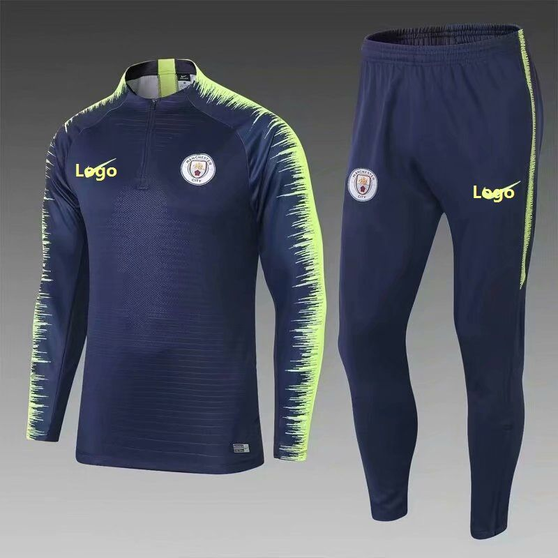 2018 19 Men Manchester City Soccer Tracksuit Adult Football Training Suit 920accc76