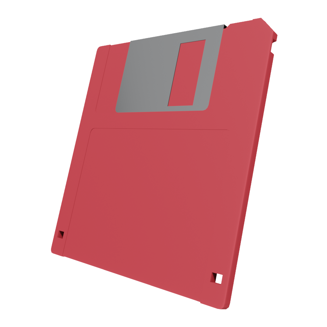 Low Poly 3 5 Floppy Disk Red Free Game Assets Floppy Disk Game Assets