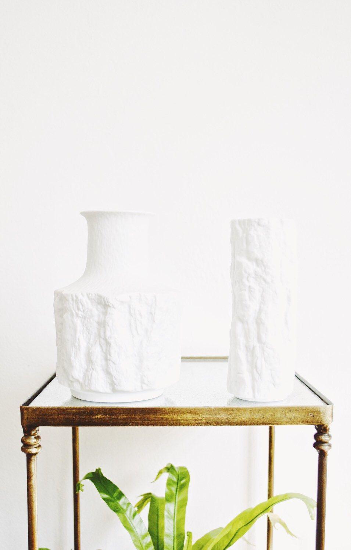 Mid century porcelain tree bark vases httpsetsylisting mid century matte white porcelain tree bark vase by glitterymoonvintage reviewsmspy