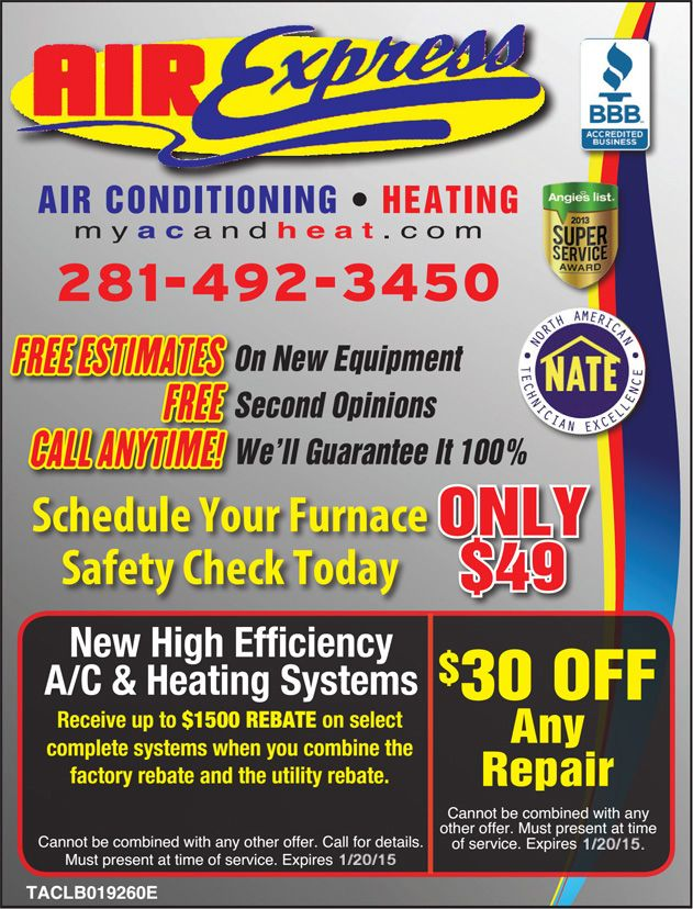 New High Efficiency A C And Heating Systems Call Now At 281 492