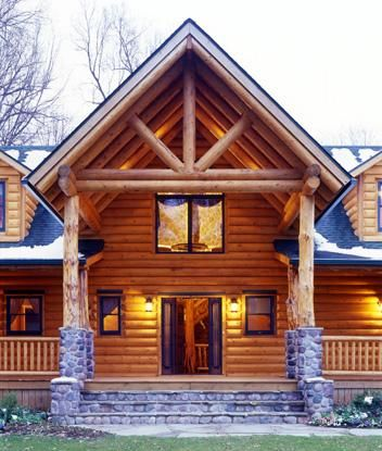 columbia station ohio 10686 log home real log homes since 1963