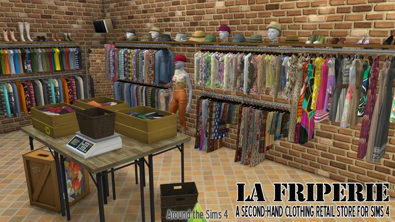 Sims clothing store
