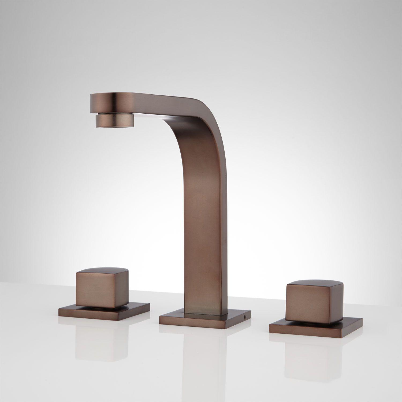 Attias Widespread Bathroom Faucet - No Overflow - Oil Rubbed Bronze ...
