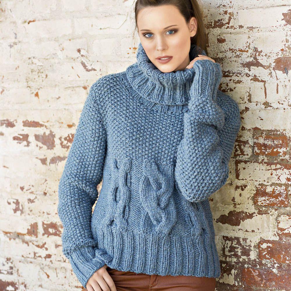 связать женский свитер спицами схема из толстой пряжи