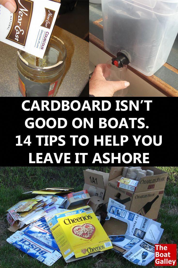 Getting rid of cardboard boat organization boating tips