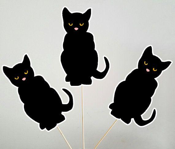 Items similar to Black Cat Centerpieces, Halloween Centerpieces