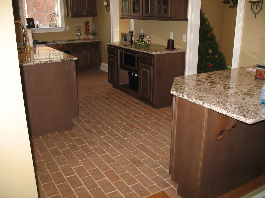 Granite Kitchen Floor Kitchens Inglenook Brick Tiles Thin Brick Flooring Brick