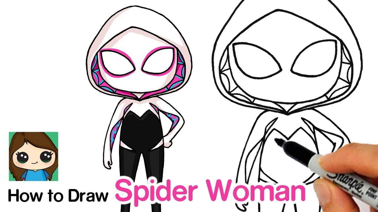 How To Draw Spider Gwen Spider Man Into The Spider Verse Drawings Drawing Lessons For Kids Spider Verse