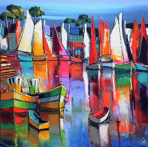 eric le pape artiste peintre de bretagne peintures de bretagne c te bretonne port de p che. Black Bedroom Furniture Sets. Home Design Ideas
