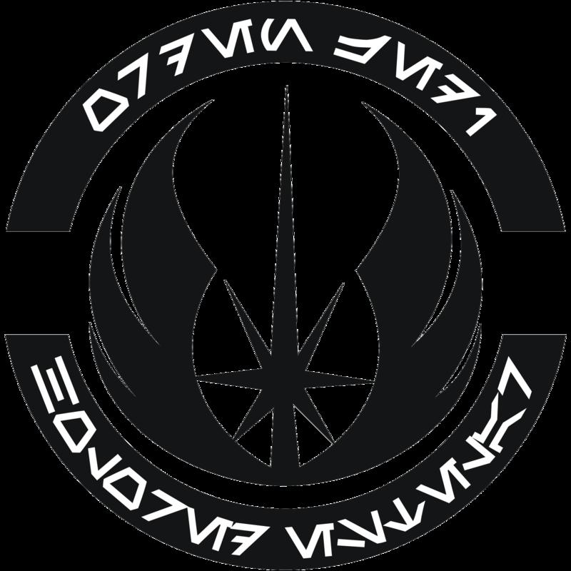 Holored Estelar Jedi Order Logo B W Version By Gardek D6qs85r Png 800 800 Pixels Jedi Symbol Star Wars Icons Star Wars Logo