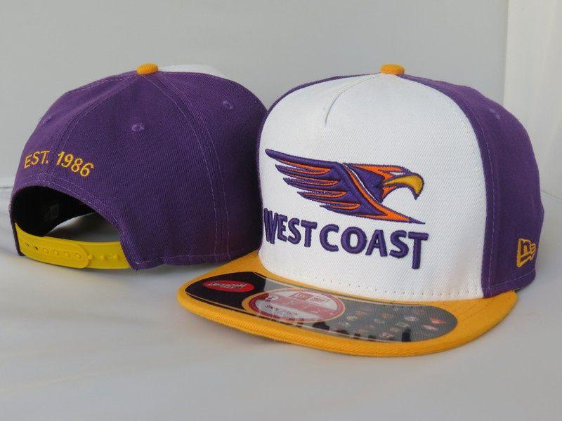 dd198d12fa5 AFL West Coast Eagles NE Snapback Hat 01