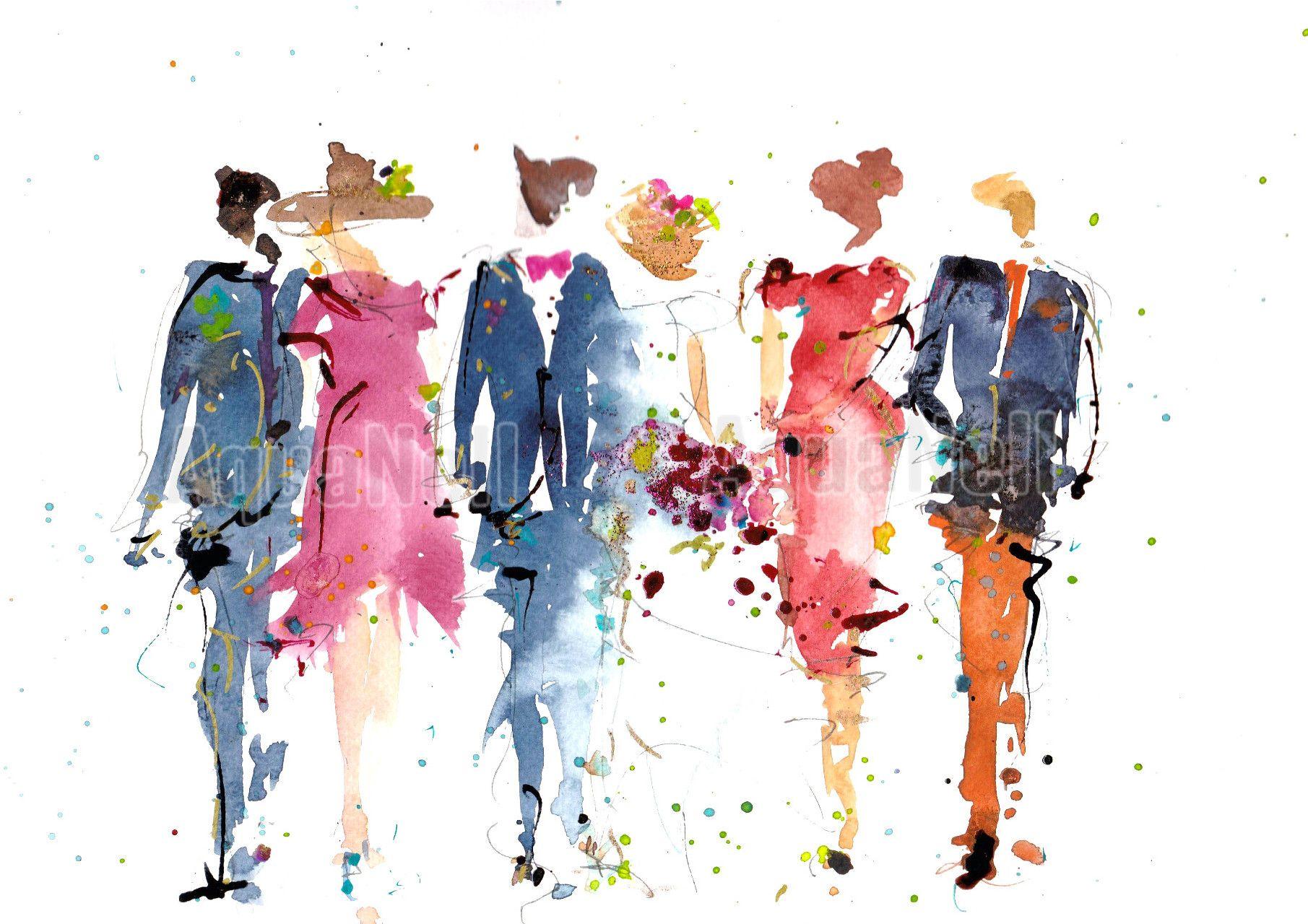 Peinture Aquarelle Mariage Pour Decorer Vos Faire Part Mariage Et