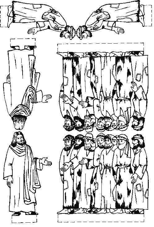 Diez leprosos. Figuras para pegar en pestañas | LOS DIEZ LEPROSOS ...