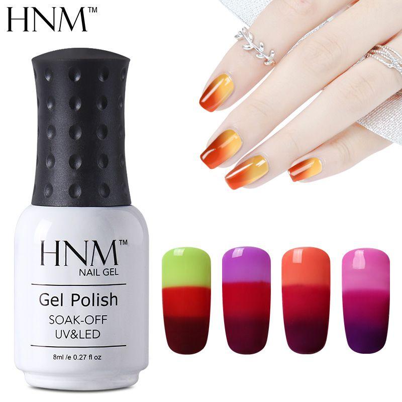 Hnm 8 ml cambio de color camaleón gel de esmalte de uñas esmalte de ...