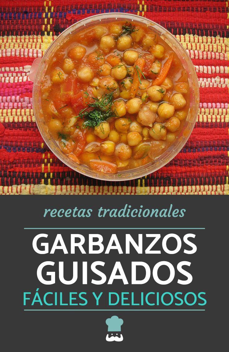 Deliciosos Garbanzos Guisados Receta Fácil Receta Garbanzos Con Verduras Recetas Fáciles Comida Vegetariana Recetas