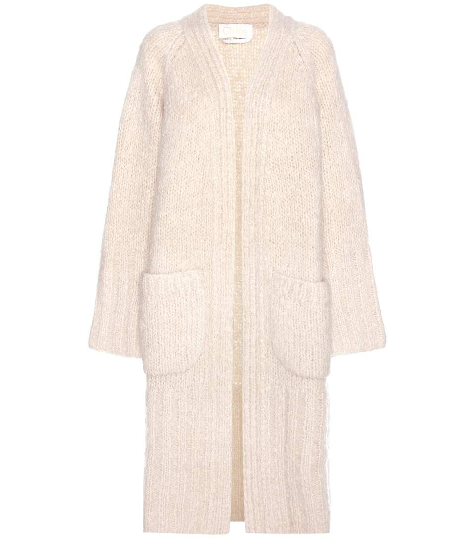 mytheresa.com - Oversized mohair, wool and cashmere cardigan ...