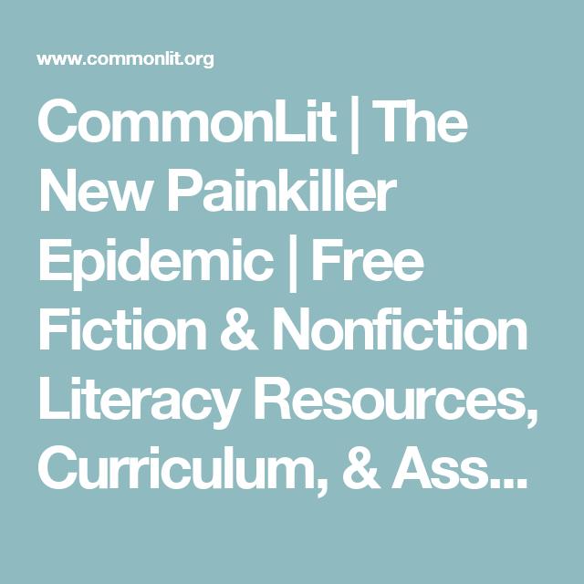 The New Painkiller Epidemic | Teaching | English classroom