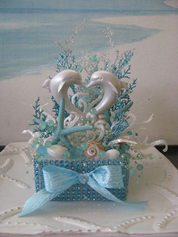 Dolphin Beach Wedding Cake Topperdesigned By CeShoreTreasures