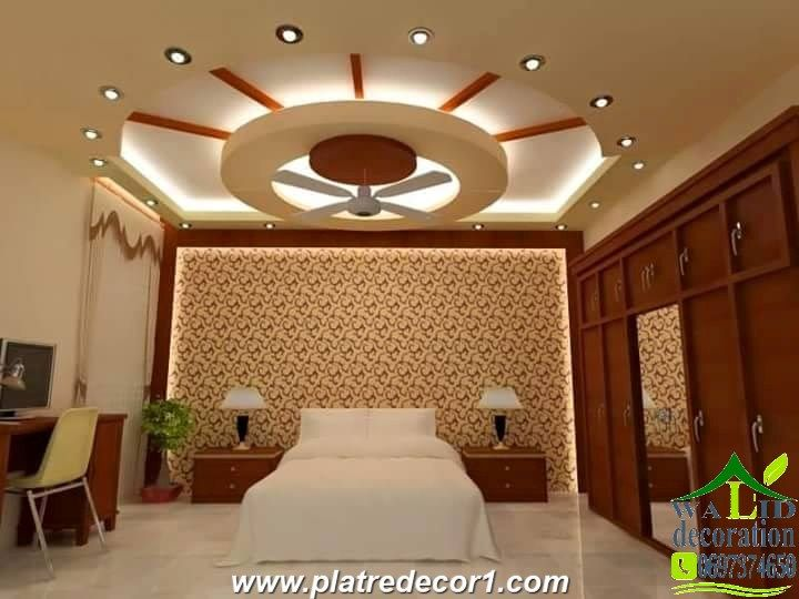 Roof Ceiling Tiles Lights False Bedroom Design