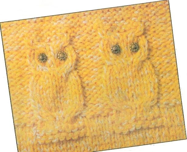 Knit Cable Owl Pattern To Knit Chart More Great Patterns Like This