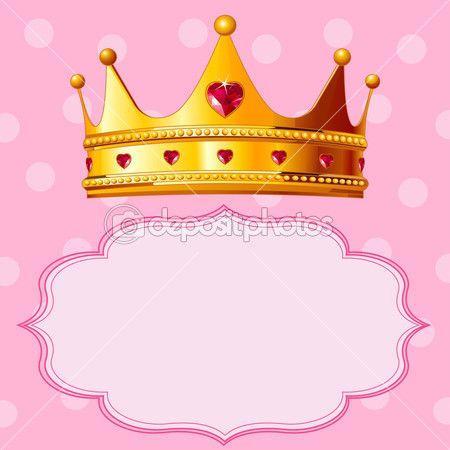 Coroa de princesa em fundo rosa — Vetor de Stock © Dazdraperma #3864292