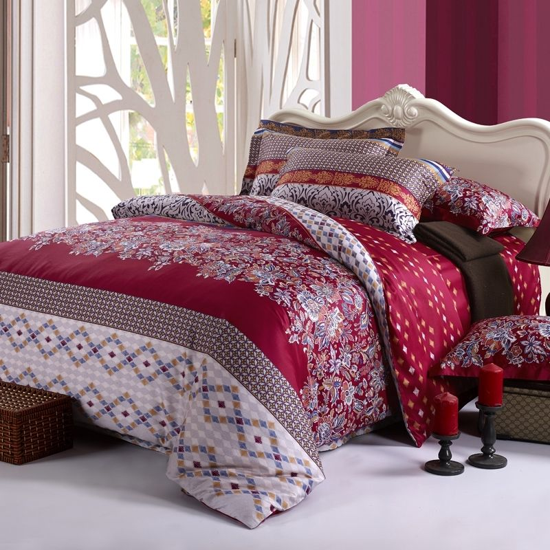 Luxury Native American Striped Print Full, Queen Size