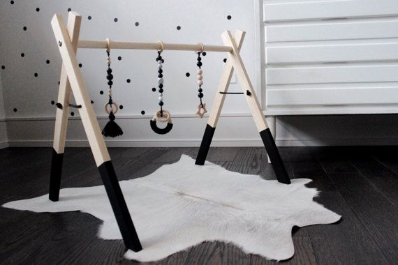 Klettergerüst Baby : Wooden baby activity gym play wood bebe