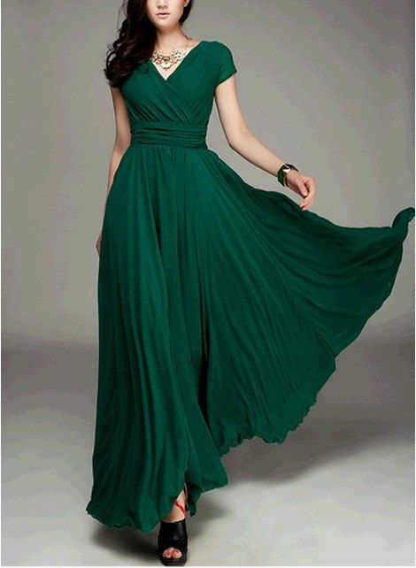 7c0622cece Women s Jade Green Color Chiffon Long Skirt circumference Long Dress maxi  skirt maxi Dress Party Wedding Prom Dress s