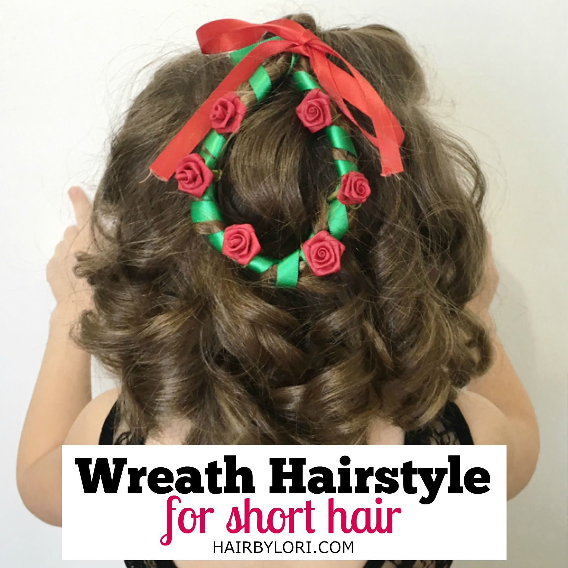 Christmas wreath hairstyle for short hair short hair and girl