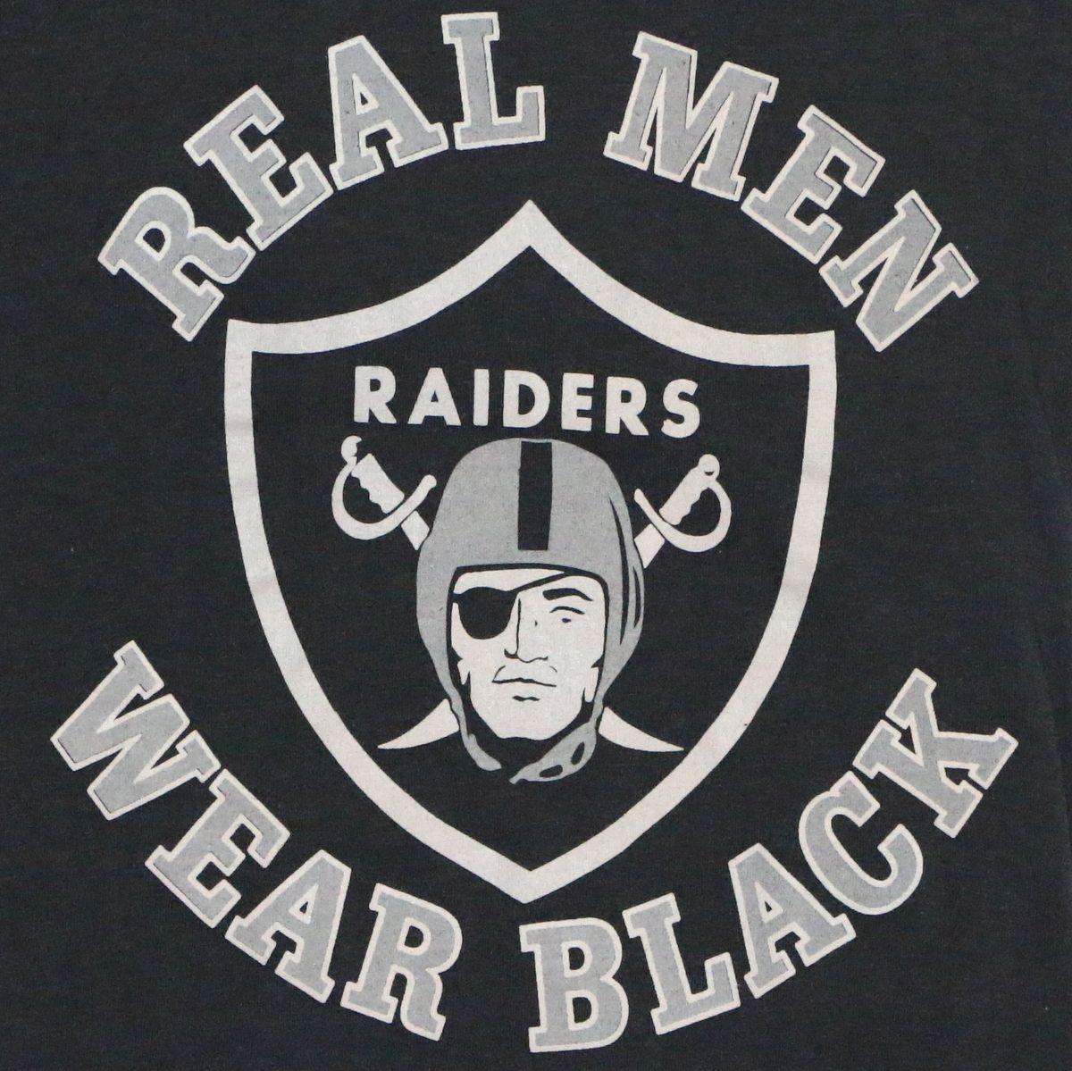 1980s Los Angeles Raiders Real Men Wear Black Nfl Shirt Oakland Raiders Fans Raiders Fans Raiders