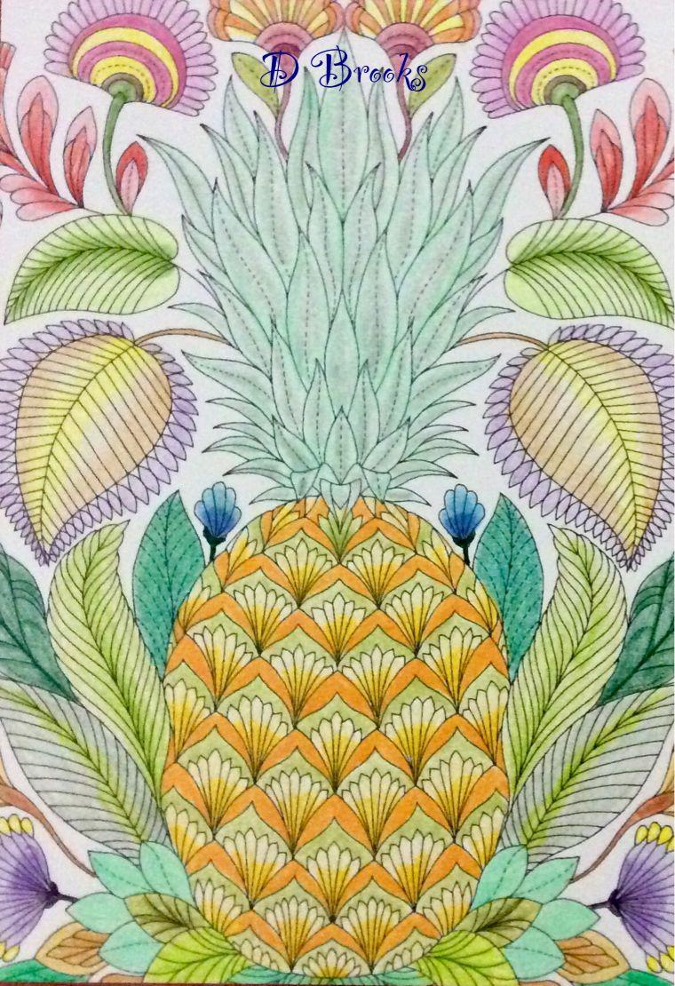 Postcard Tropical Wonderland By Millie Marotta Japanese Woodblock Printing Color Pencil Art Millie Marotta