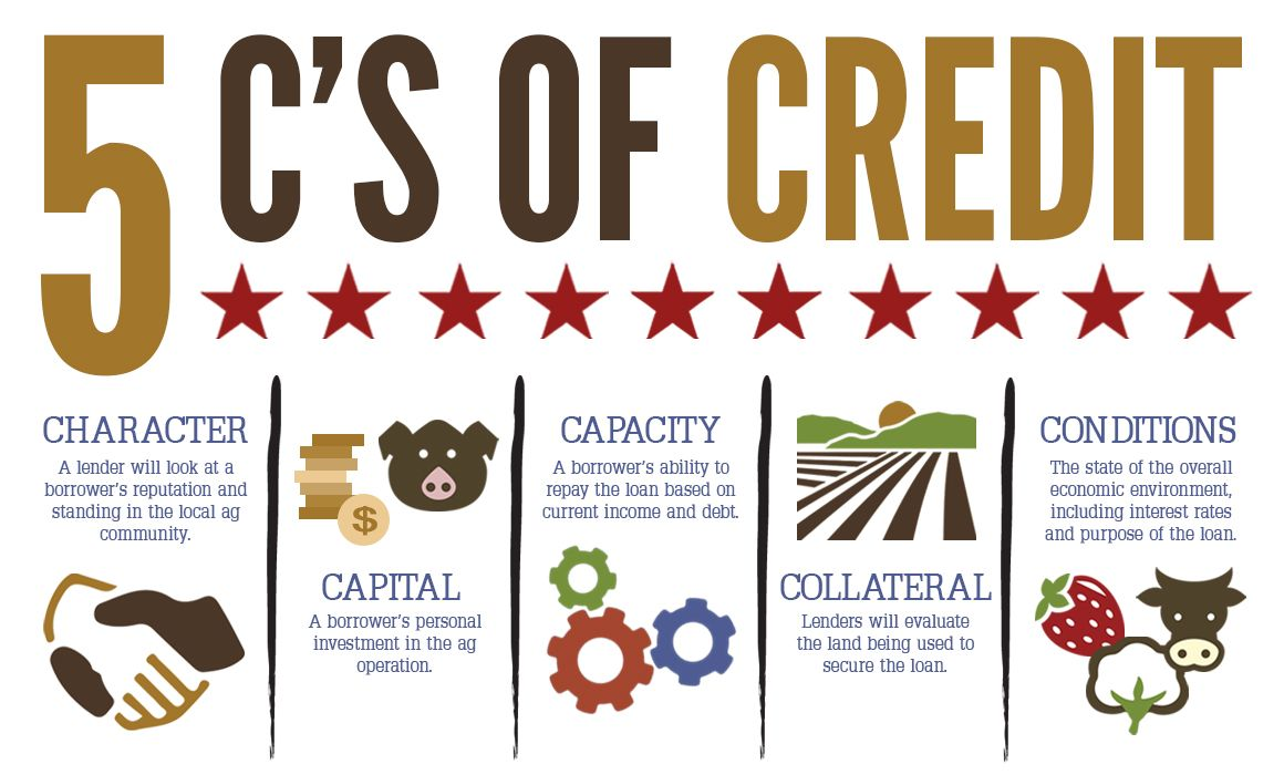 The 5 C S Of Credit And What They Mean For Your Agricultural Land Loan Agamerica The Borrowers Land Loan Loan
