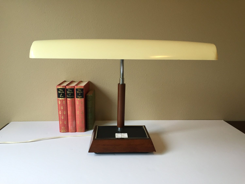Vintage Panasonic Desk Lamp Fluorescent Office Light Mid