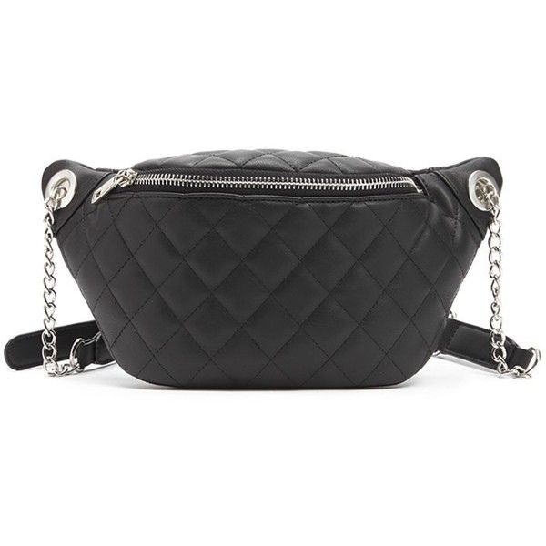 Forever21 Quilted Pack 16 Liked On Polyvore Featuring Bags Black Waist Bag Forever 21 And
