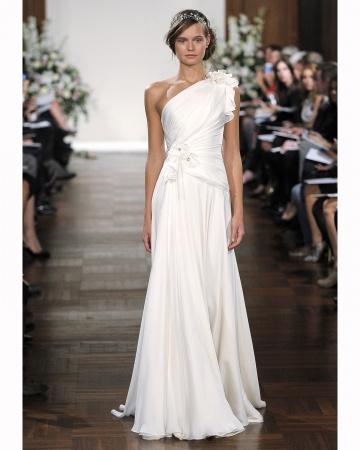 One Shoulder Goddess Wedding Dress
