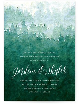 Forest Wedding Invitations Minted Forest Wedding Invitations Country Wedding Invitations Mountain Wedding Invitations