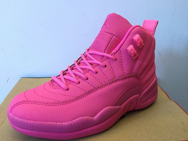 Original Air Jordan 12 XII WoPink Color Basketball Shoes