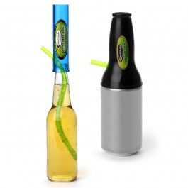 Need to finish your drink quick? Whether you have a bottle or a can, we can help! This beer/can bong combo give you the chance to chug away every drop. Both the can and bottle bongs snap on top of most beers.