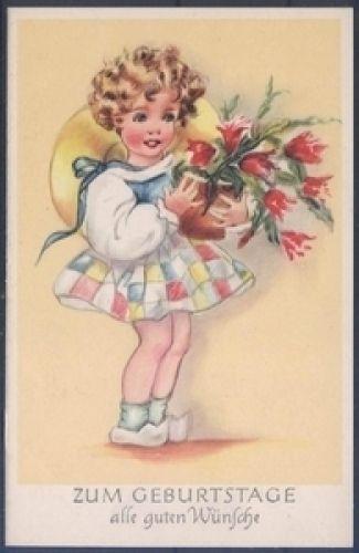 Geburtstagskarte ( K00818 ), Briefmarken-Versand-Welt - Briefmarken, Ansichtskarten und mehr