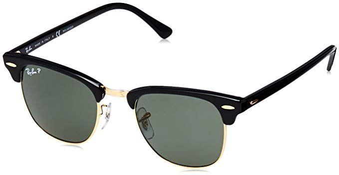 a2486b34c1 Ray-Ban Men s Clubmaster Polarized Aviator Sunglasses