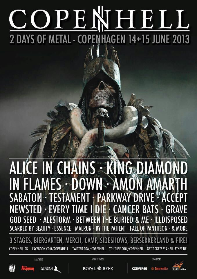 June 15th Newsted Will be playing In Copenhagen, Denmark