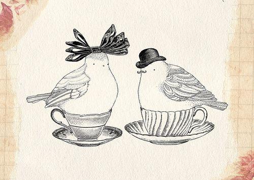 teacups, by Little Doodles