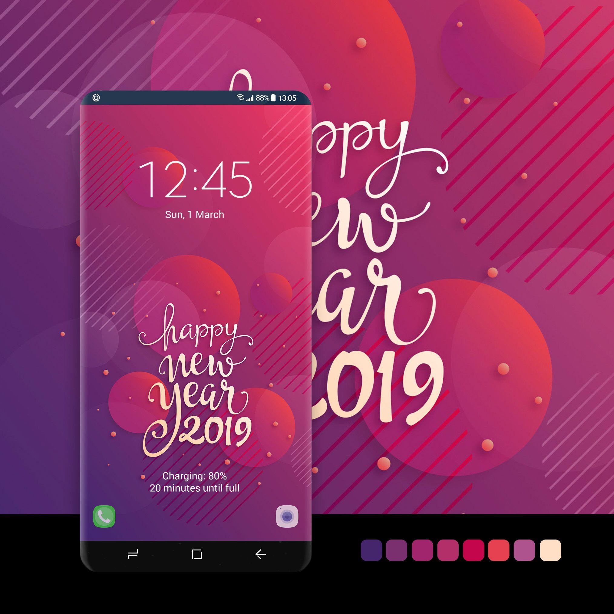 Happy New Year Pink Samsung Galaxy Wallpaper Samsung Galaxy Wallpaper Android Happy New Year Wallpaper