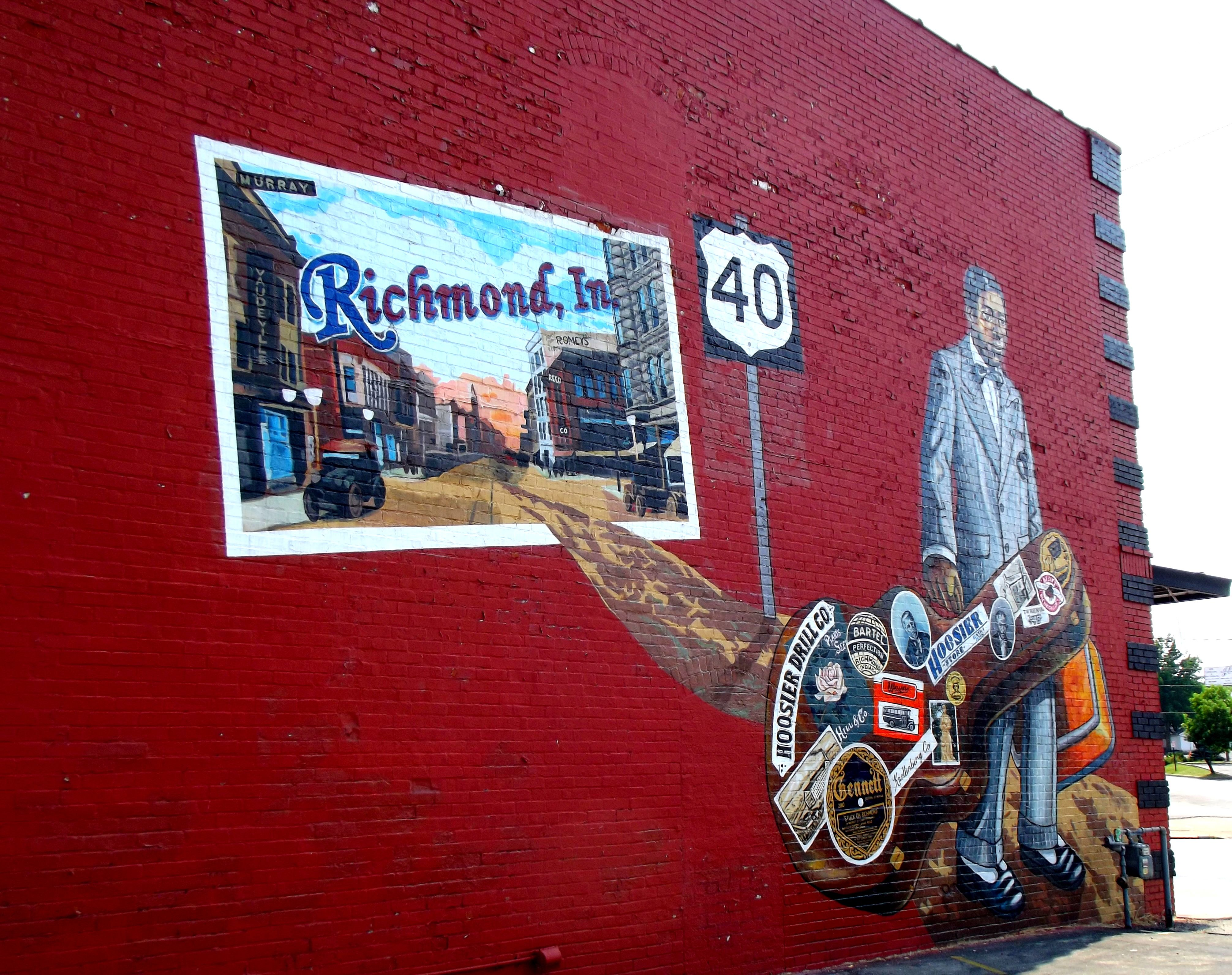 Indiana wayne county richmond - The Mural On The Side Of Pete S Corner Cafe In The Historic Depot District Richmond