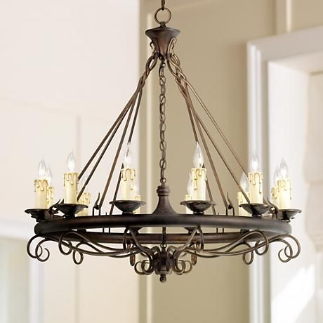 rodeo collection round twelve light chandelier style 40722