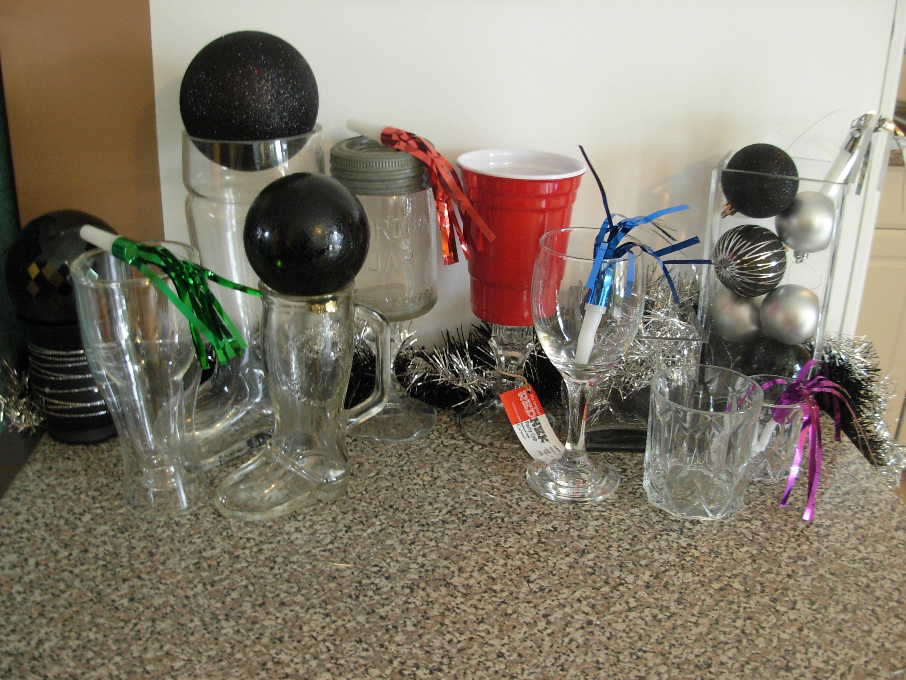 Choose Your Weapon #nye  The Hopside Beer Glass, the Big Boot, the Little Boot, the Carona Jar, the RedNeck, the Crown Royal, or the Stemmed Wine Glass