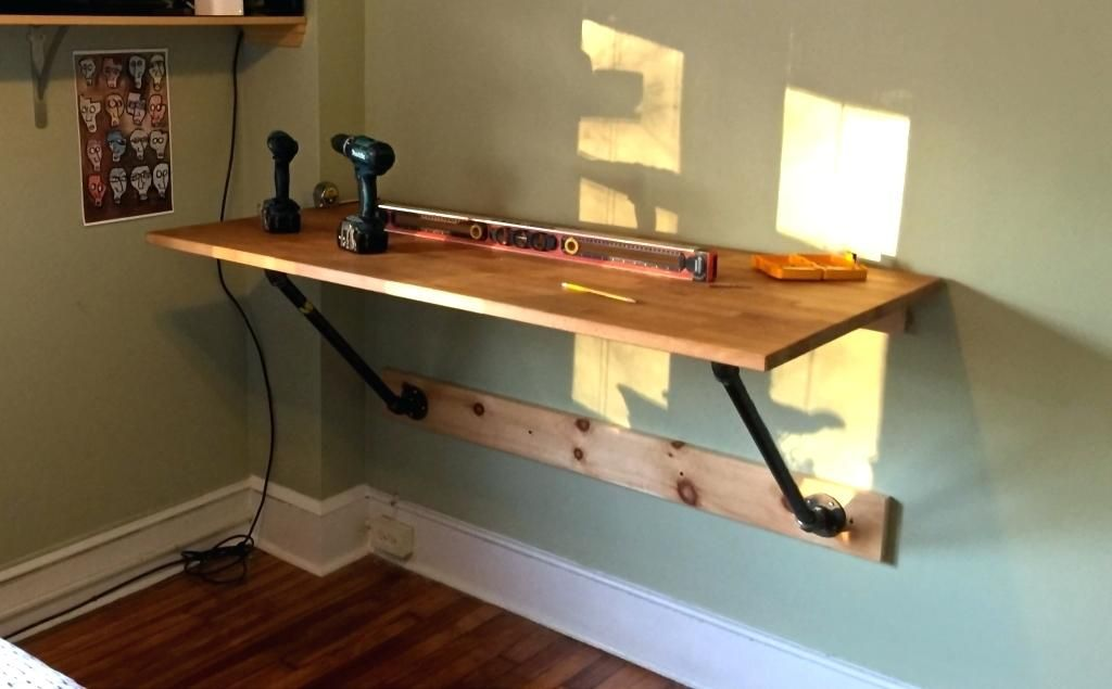 Home Office Standing Desk I Made My Own Wall Mounted Standing Desk And So Can You Matt Inside Wall Mo Wall Mounted Desk Standing Desk Accessories Standing Desk