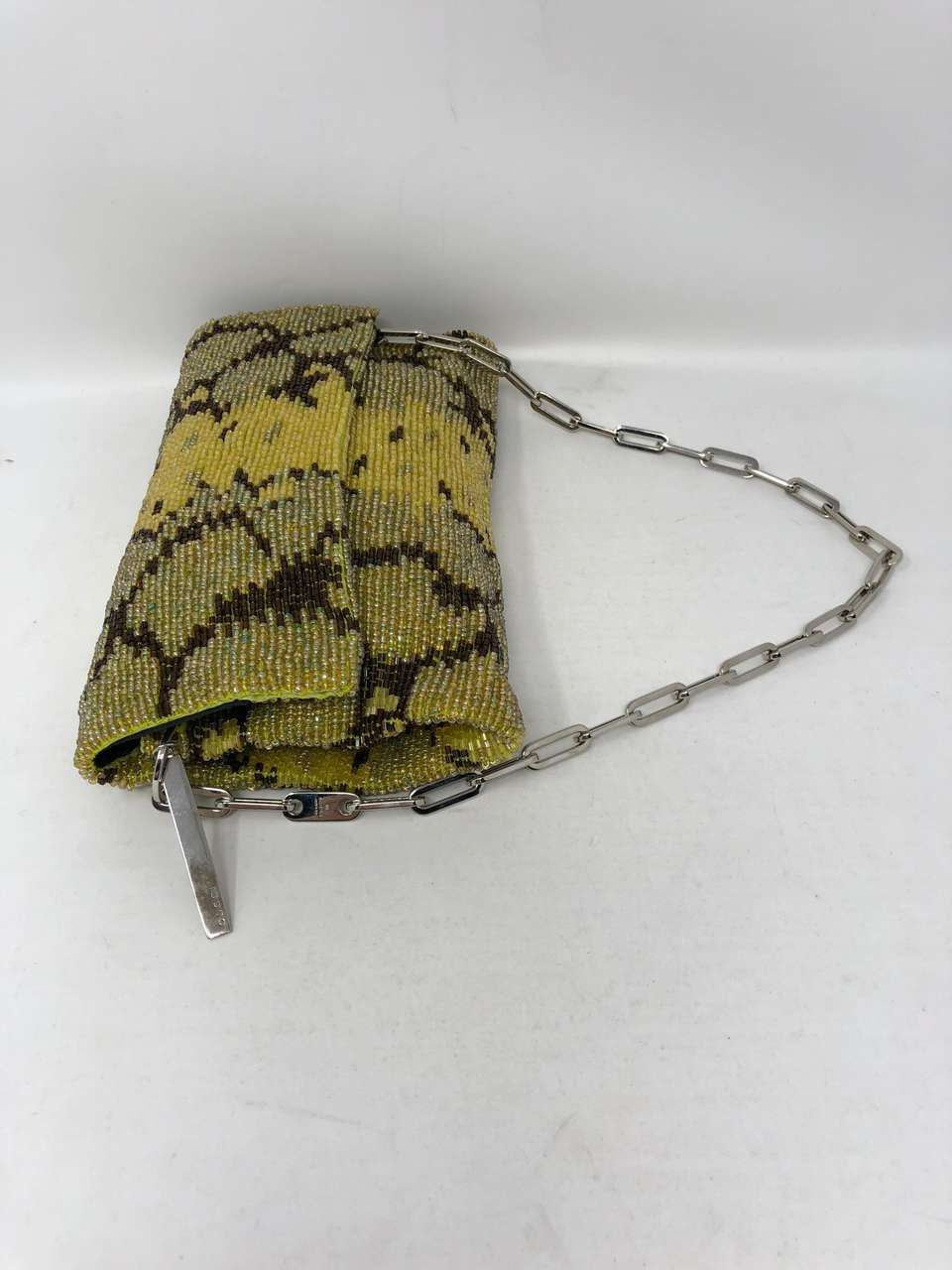 609cb1c3d448 For Sale on 1stdibs - Gucci evening bag designed by Tom Ford. Handmade and  beaded purse with exquisite details. The beading creates a snakeskin look.