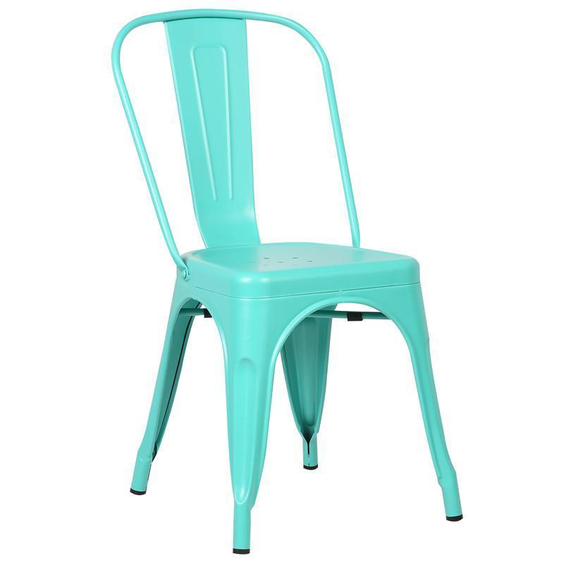 EdgeMod EM-112-AQU-X2 Trattoria Side Chair in Aqua (Set of ...