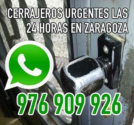 Cerrajeros urgentes las 24 horas en Zaragoza